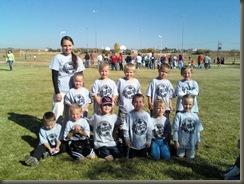 Brynn's soccer team age 5 11.1.08
