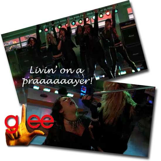Vai que é tua, Glee: Living on a prayer / Start me up