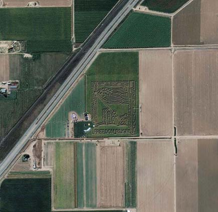 ig21 above cornmaze 02 14 Most Amazing Satellite Pictures You'll Ever Seen Before