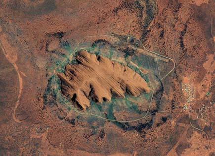 ig21 above ayers rock 02 14 Most Amazing Satellite Pictures You'll Ever Seen Before