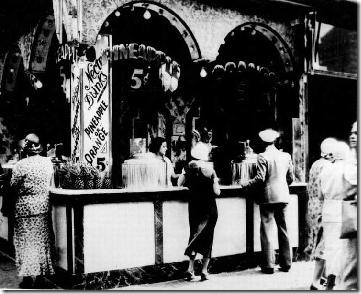 Bebidas tropicales, cinco céntimos. 1932
