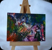 Coral reef on easel
