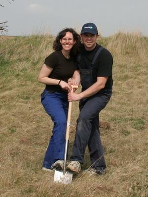 Die Bauherren <br> Frank und Karina...
