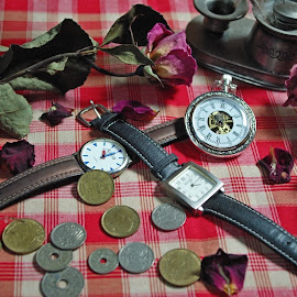 watches ... by Joseph Muller - Artistic Objects Clothing & Accessories ( coins, still life, watch fob ..., flowers, watches, object )