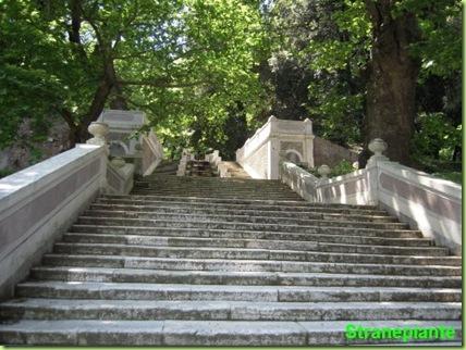 Scalone monumentale orto botanico roma