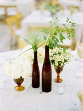 wine bottles centerpieces