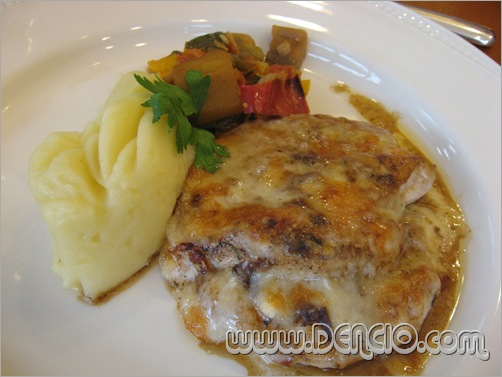 Pan-Fried Chicken with 3 cheeses (P380.00)