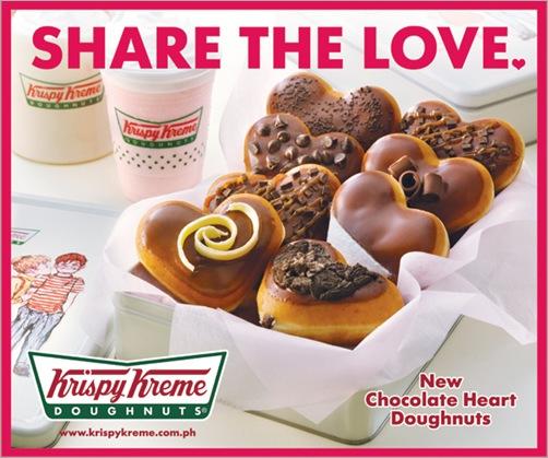 Krispy Kreme Chocolate Heart Doughnuts!