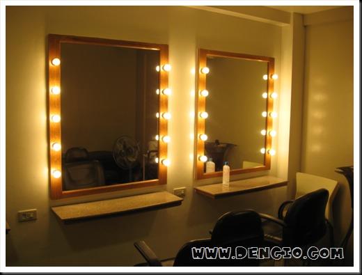 Acqua salon dencio com for Beauty salon mirrors with lights