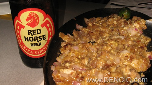 Sisig + Red Horse