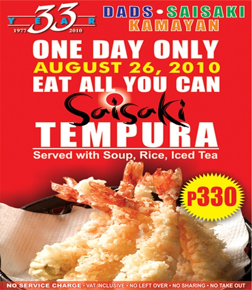 Saisaki Tempura All You Can