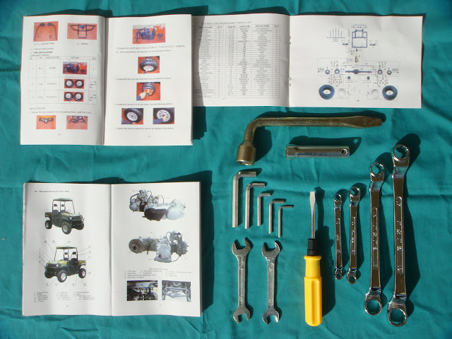 300cc 2WD Farm Ute UTV Toolkit Manual