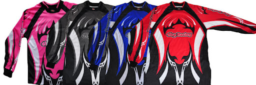 Junior Motocross Jersey Shirts Pink Black Blue Red
