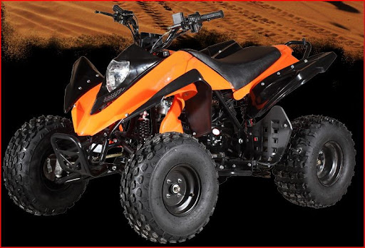 125cc Raptor Style Series 2 Sports Quad Bike - Orange