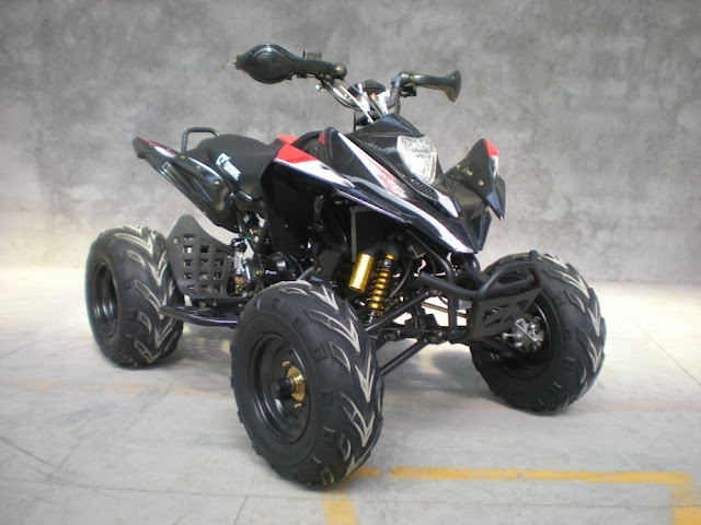250cc Watercooled Recreational Sports 4 wheeler Quad Bike Black