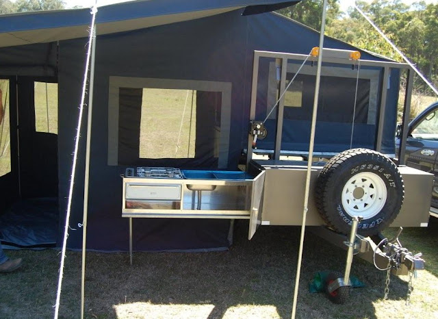 Motorbike Camper trailer tent with Kitchen