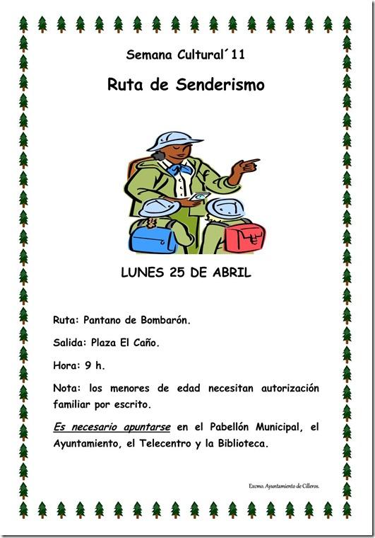 cartel senderismo