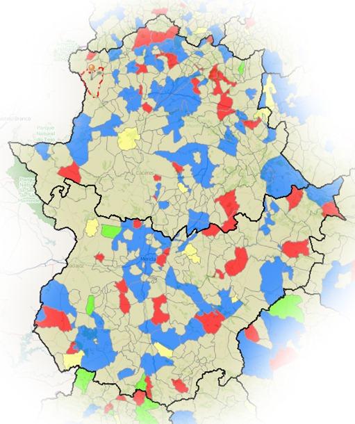 cambio gobierno 2007-2011 extremadura