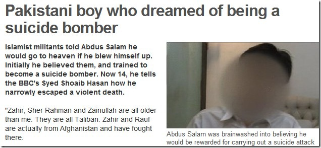 brainwashed Pak boy
