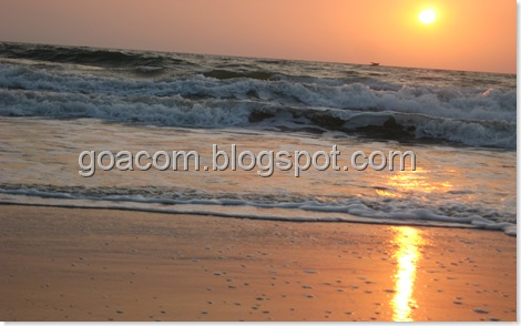 Goa sunset scene
