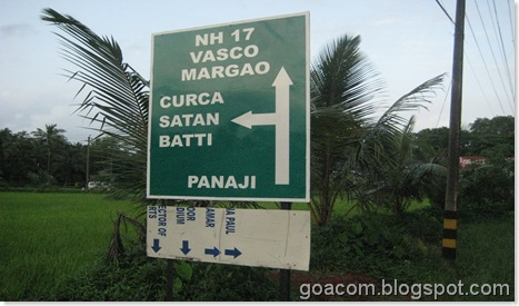 NHAI signboard in Goa