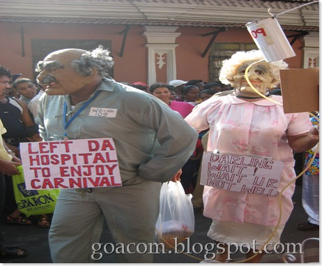 Senior citizens masquerade at Goa Carnival