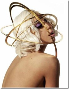 lady gaga saturn head piece