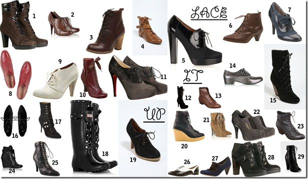 Lace up Shoes Boots @Bette's Vintage Line
