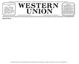 blank western union telegram