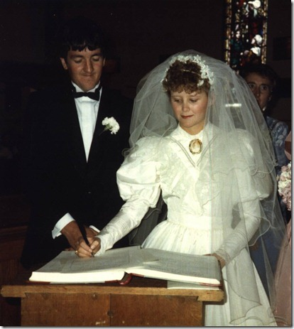 Our Wedding  5 April 1986