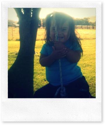lillian on swing