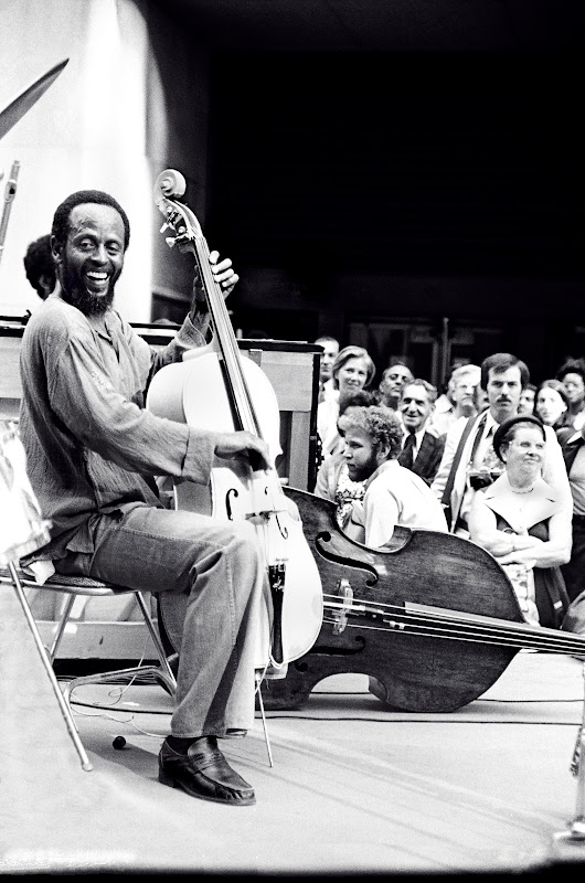 Percy Heath smiling 1977 Rockerfeller Center, NYC.jpg