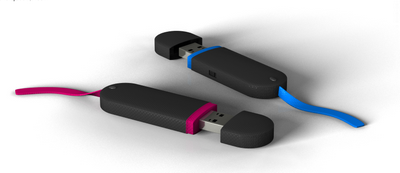 Fantastic Elastic USB memory drive