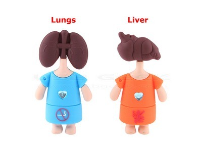 lungs and liver usb drive