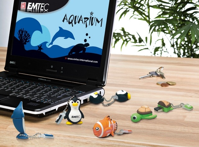 The Aquarium range USB flash drive series
