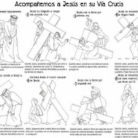 DIBUJOS VIA CRUCIS PARA IMPRIMIR Y COLOREAR