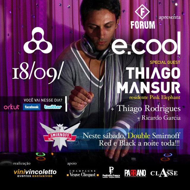 Thiago Mansur na Anzu Club dia 18/09