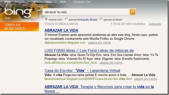 Abrazar La Vida no Bing!