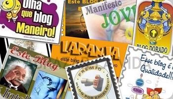 Selos que o Abrazar La Vida recebeu de outros blogs.