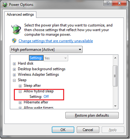 How to Enable Hibernation in Windows 7 Start Menu