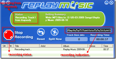 Replay Music! Record Online Streaming Music