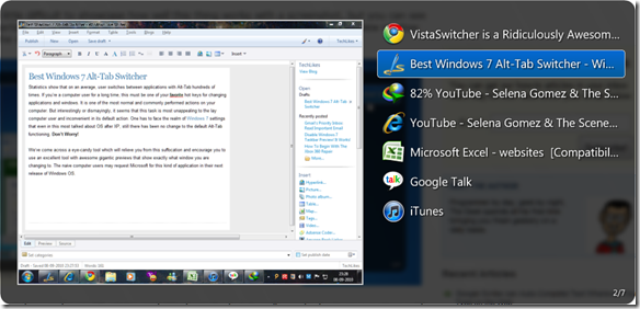 Best Windows 7 Alt Tab Switcher : Really Good!