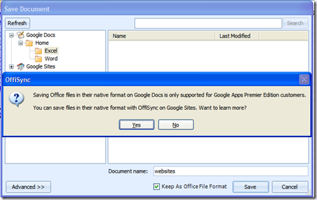 Save/Store Office Docs Online with Google Docs and Google Apps