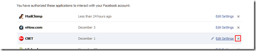 How to Delete/Remove Facebook Application