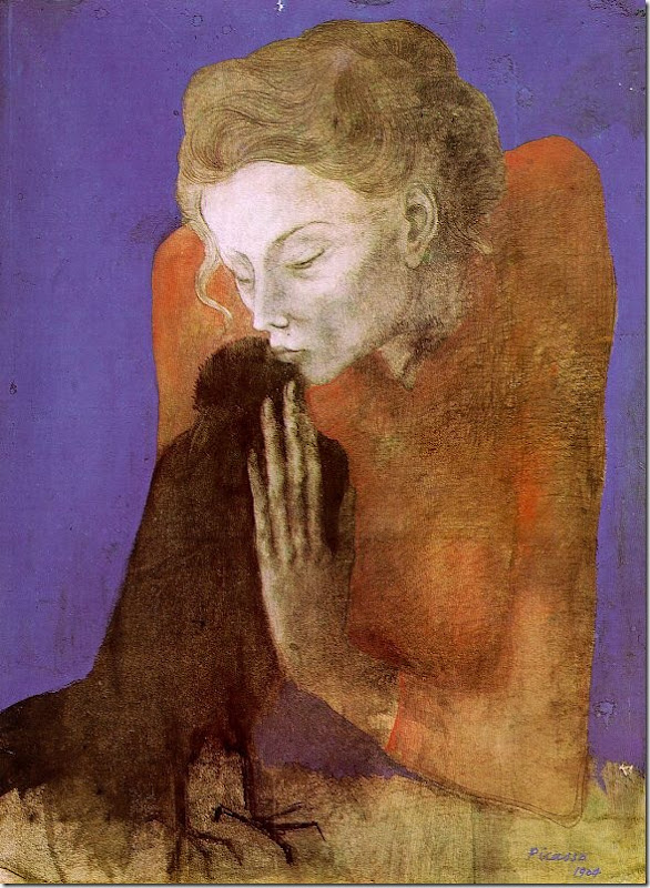 picasso_Woman_with_a_Crow_1904