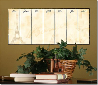 Eiffel Tower Dry-Erase Calendar Wall Sticker_1276089489339