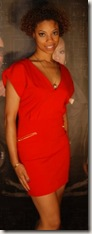 cherish in red dress