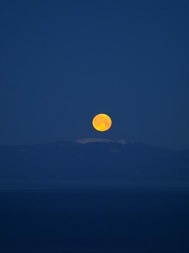 Coucher de lune, hier matin AG013428