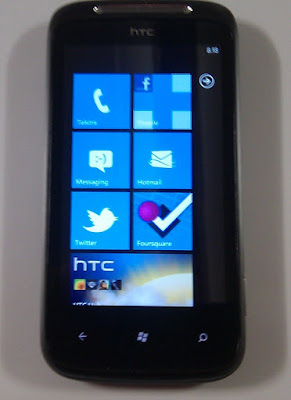 Live tile interface on Windows Phone 7