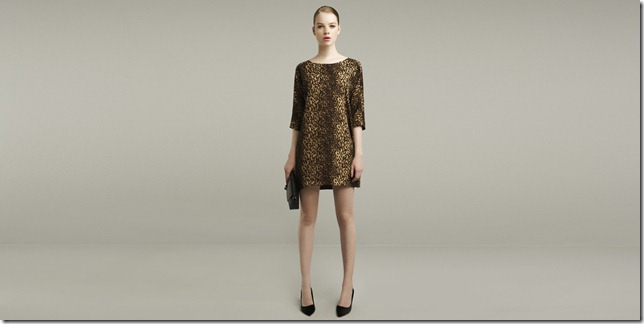 leopard animal print mini shift dress